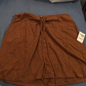 NWT micro suede Charlotte Russe skirt